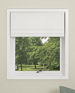 DEBEL 罗马帘,纽约,* 涤纶,白色,160 x 160 厘米