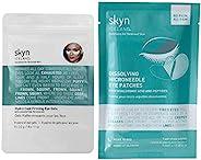 skyn ICELAND Hydro Cool 紧致眼部凝胶和溶解微粒状眼部贴片,套装