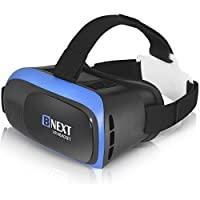 VR 耳机兼容 iPhone 和 Android 手机 – 通用虚拟现实护目镜 – 玩您*棒的移动游戏 360 部电影,带柔软舒适的 3D VR 眼镜 | 蓝色 | 带*保护