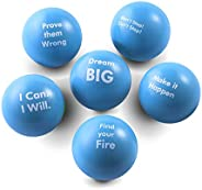 Pure Origins | 激励压力球 | 手部锻炼 | 礼品 6 件装 | 减压压力、特殊需求、集中、*、激励、ADHD、加急、自闭*和团队组建品 每包6条 Scuba Blue.