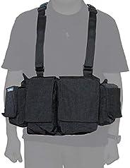 Newswear 男士数字胸衣,数码单反相机和镜片携带系统,黑色。