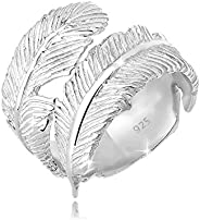Elli Ring 羽毛可调整 925 纯银