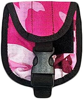 N11 水肺重量口袋 2 千克水肺潜水重量带口袋装饰计数器重量口袋带快速释放扣,适用于水肺潜水、浮潜或多种户外活动(粉色迷彩)