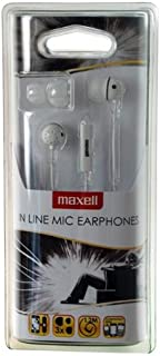 Maxell In Line 耳挂耳式耳机 - 白色