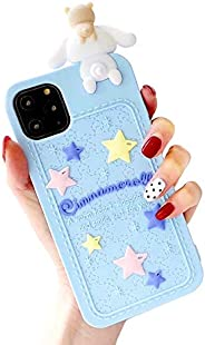 CaserBay 适用于 iPhone 12 Pro Max 手机壳,6.7 英寸,3D 可爱卡通可爱动物系列软硅胶橡胶保护套肉桂色