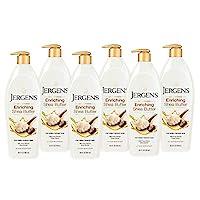 Jergens乳木果油乳液,26.5盎司/783ml 6件装