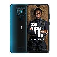 Nokia 诺基亚 5.3 6.55英寸Android UK 无SIM智能手机,具有4 GB RAM和64 GB存储(双SIM卡)-青色