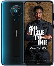 Nokia 諾基亞 5.3 6.55英寸Android UK 無SIM智能手機,具有4 GB RAM和64 GB存儲(雙SIM卡)-青色
