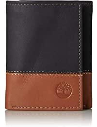 Timberland 男式 三折皮革錢包 帶證件展示窗口
