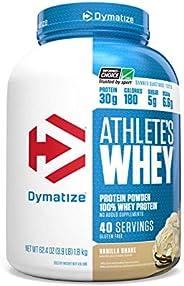 Dymatize Nutrition Athlete's Whey 62.1 Oz (3.88lb) (1.8kg) Vanilla Shake, 40 C
