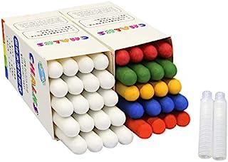 无尘粉笔,彩色儿童绘画粉笔,水溶性无尘粉笔,带粉笔支架,儿童绘画粉笔玩具学校教室黑板 适合教师儿童可水洗