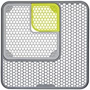 Kitchen Craft 3 件套可调节水槽保护垫,30 x 30 厘米(12 x 12 英寸)- 灰色/绿色