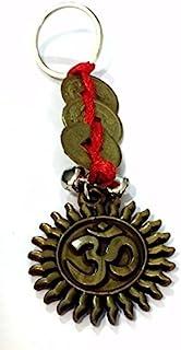 DevDeep Chrismas Special Fengshui 红色中国结 3 枚硬币带 OM (AUM) 钥匙圈/钥匙链/流苏将 3 个天堂祝福带到您的家。