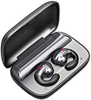 迷你骨传导耳机蓝牙耳机带麦克风TWS Hook 无线耳塞降噪防水蓝牙 5.0 耳机,适用于跑步、骑行、健身驾驶