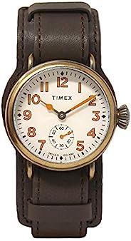 Timex Welton 38 毫米皮革表带手表 TW2R87900