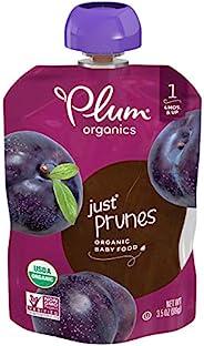 Plum Organics 阶段1婴儿食品,西梅泥,3.5盎司,99克,袋装(12包)