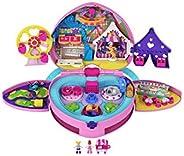 Polly Pocket Tiny is Mighty主題公園雙肩包,配有可調節肩帶、2個微型玩偶、冰淇淋車,適合 4 歲及以上兒童