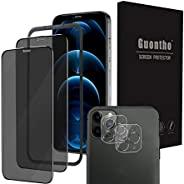 (4 件玻璃屏幕保护膜)适用于 iPhone 12 Pro 5G(6.1 英寸)全保护耐用钢化玻璃屏幕保护膜 [指导框架包括] (A)