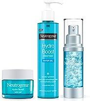 Neutrogena 露得清 Hydro Boost 系列,3 步面部护理,保湿入门套装和护肤套装(洁面乳 + 保湿霜 + Booster精华),经济包装