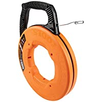 Klein Tools 56341 鱼胶带 / 线拉手,不锈钢,双环尖,优化外壳和手柄,1/8 英寸 x 240 英尺