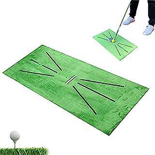 Acumas 高尔夫训练垫,挥杆检测击球迷你高尔夫练习训练辅助游戏,便携式室内家用或室外后院高尔夫训练草坪垫