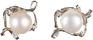"""Pea Pod""1 颗珍珠耳钉 由 Michael Michaud 设计 银色季节"