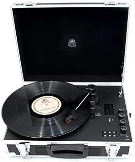GPO 飞行箱 3 速乙烯基转盘内置扬声器 - 黑色/银色