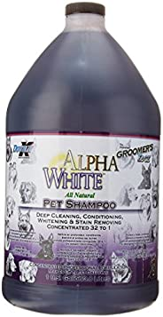Groomers Edge Alpha White 洗发水,1加仑,3.8升