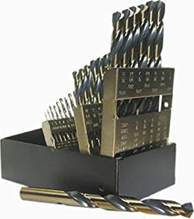Norseman 钻头工具 44150 - 类型 190-AG-系列 29 件金色和黑色氧化涂层高速钢,1/16 英寸