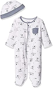 Little Me Baby Boys' Puppy Toile Footie with