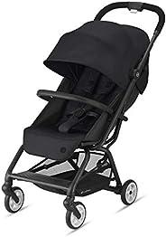 CYBEX Gold Eezy S 2 婴儿车 520001597 可单手折叠,轻量化,适用于初生-22kg(约4岁) 幼儿,深黑色/带黑色框架