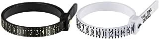 aiyu 2 件戒指尺子测量器手指线圈尺寸工具英国尺寸测量戒指尺寸配件插入防护紧固工具