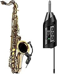 SGPRO 无线萨克斯管麦克风系统,预设回声功能,夹式乐器麦克风法国喇叭小号杜宾