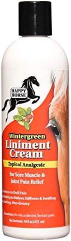 HARRIS Happy Horse Wintergreen Liniment Cream 缓解肌肉酸痛和关节*,16 盎司
