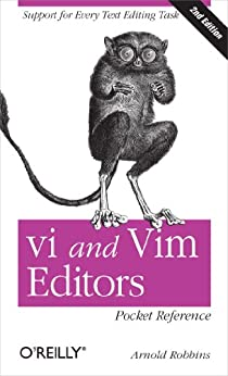 """vi and Vim Editors Pocket Reference: Support for every text editing task (English Edition)"",作者:[Arnold Robbins]"