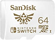 SanDisk 闪迪 microSDXC UHS-I 存储卡,用于任天堂 Switch-SDSQXAT-064G-GNCZN,64GB