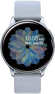 Samsung 三星 Galaxy Watch Active 2(44mm,GPS,蓝牙) 智能手表,具有高级监控,健身追踪和持久的电池-银色(美国版)