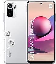 小米 Redmi Note 10S - 智能手机 6GB+64GB,6.5 英寸 AMOLED DotDisplay,MediaTek Helio G95,64MP 四摄像头,5000mAh,Pebble White (