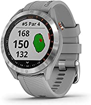 Garmin 佳明 Approach S40 時尚 GPS 高爾夫智能手表010-02140-00 Unit Only Stainless steel with powder gray band