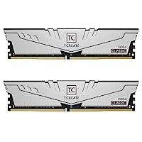 TEAMGROUP T-Create Classic DDR4 64GB Kit (2 x 32GB) 3200MHz (PC4 25600) CL22 台式机内存条 - TTCCD464G3200HC22DC01