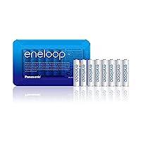 Panasonic 松下 eneloop 即用型鎳氫電池,AAA Micro,含收納盒,至少750 mAh,可充電2100次,性能強勁且自放電率低,可充電電池,8件裝