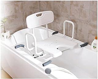 W.w.o. 1011 淋浴椅,吉他可调,70-76 厘米宽,白色,男女皆宜