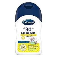 Bübchen Sensitive *乳 SPF 30,防水,适用于敏感婴儿皮肤,针对儿童和婴儿提供高紫外线防护,数量:1 x 150毫升