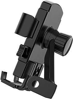 LCKJ 自行车和摩托车支架,360 度旋转可调节硅胶自行车手机支架,适用于自行车车把,易于安装自行车配件兼容 4.7 - 6.7 英寸(约 11.9 - 17 厘米)手机(镜像)