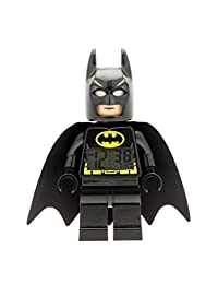 LEGO DC 漫畫*英雄蝙蝠俠 9005718 兒童公仔發光鬧鐘 黑色 / yelow √ 塑料 √ 9.5 英寸高 LCD 顯示屏 – 男孩女孩官方