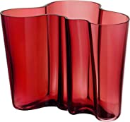 Iittala Alvar Aalto 花瓶 160mm,蔓越莓红
