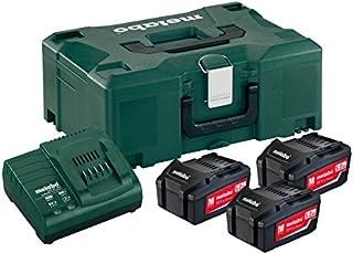 Metabo 685062000 基本套装,带 3 x 18 V 5.2 A 电池和 ASC 30-36 V 充电器 - 绿色/黑色