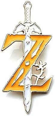 The Legend of Zelda Z 标志和主剑金属珐琅别针