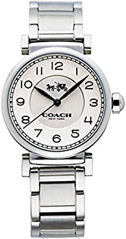 Coach蔻馳女式麥迪遜時尚32毫米白色/不銹鋼均碼