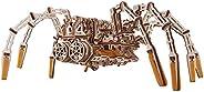 Wood Trick 机械蜘蛛 3D 木制拼图 - 可运行长达 7 英尺 - 木制模型套件,适合成人和儿童搭建